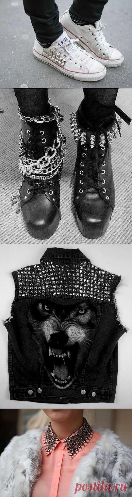Новые идеи с шипами и клепками / Декор / Модный сайт о стильной переделке одежды и интерьера