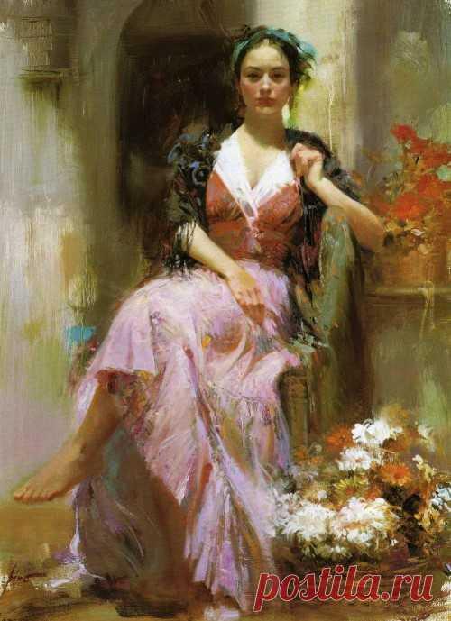 Художник Pino Daeni|Прекрасной женщине
