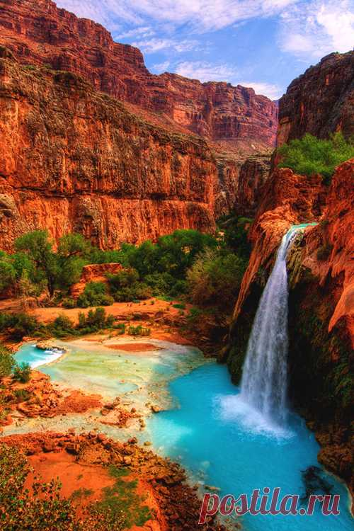 "italian-luxury: ""Havasu Falls in the Havasupai Indian Reservation, Grand Canyon """