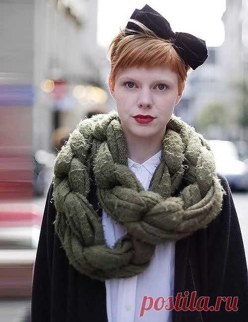 Шарфо-цепь / Шарфы / Модный сайт о стильной переделке одежды и интерьера