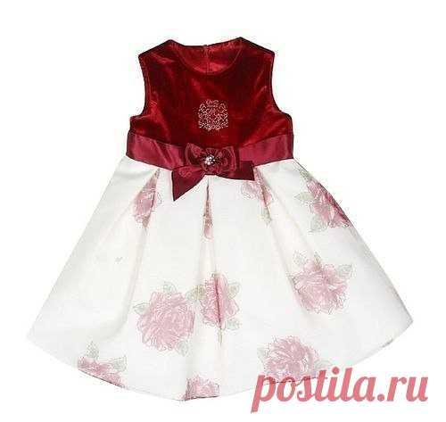 Нарядное платье для маленьких принцесс. Выкройка (Шитье и крой)   Журнал Вдохновение Рукодельницы