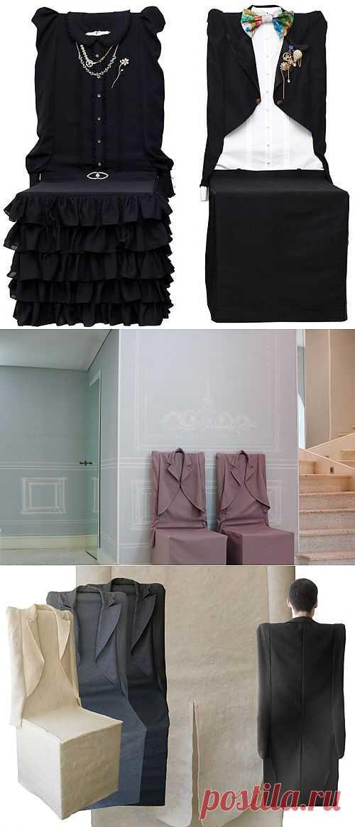 Идеи чехлов для стульев в виде одежды / Мебель / Модный сайт о стильной переделке одежды и интерьера