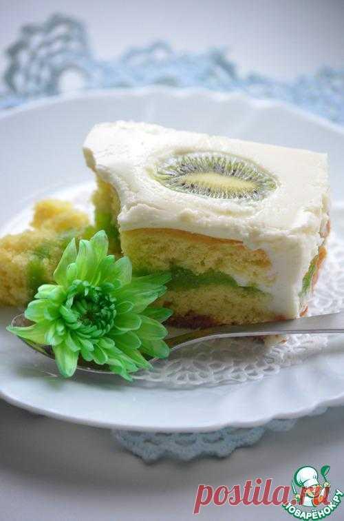 Пирожное с киви.