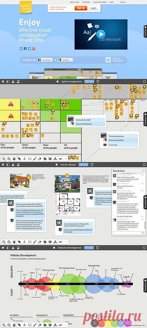 RealtimeBoard – бесплатная онлайн-доска для совместного проектирования задач | Лайфхакер