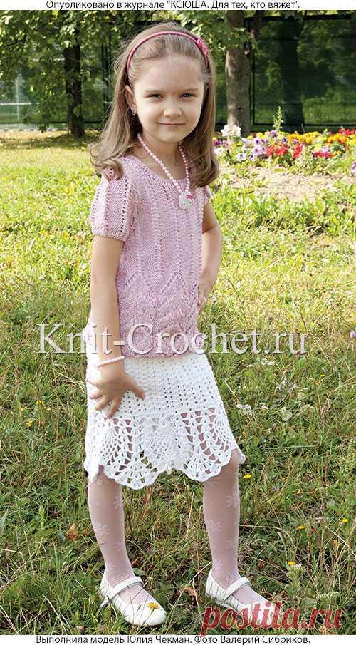 топ и юбка для девочки 6 7 лет девочкам на спицах вязание
