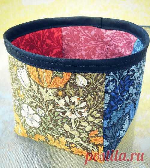 Текстильная корзина для хранения своими руками - Домашний Блог