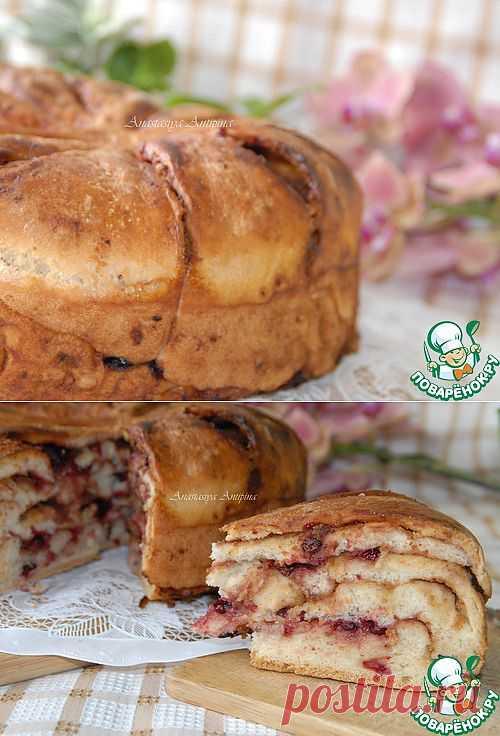 Пирог с клюквой и кедровой пастой - кулинарный рецепт