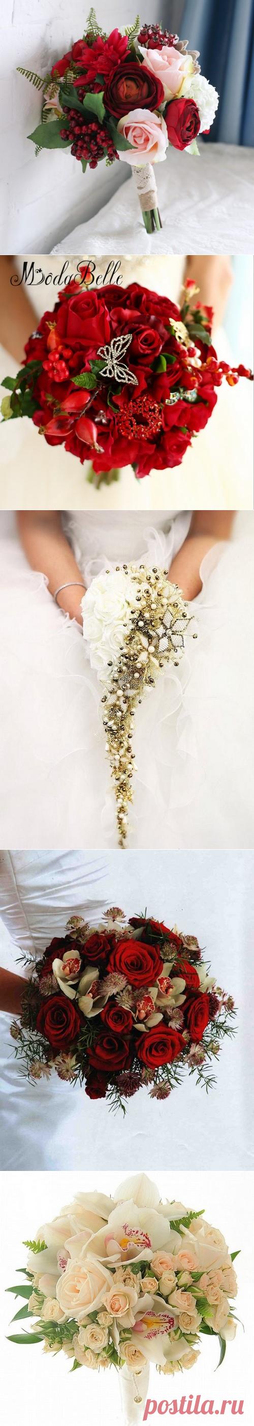 Какой свадебный букет сделать - фото идеи, красивые свадебные букеты для невесты - примеры