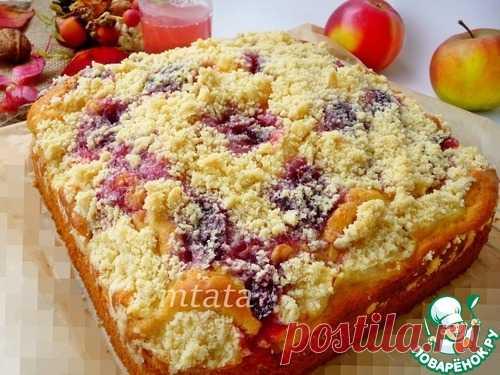 Яблочный пирог с вареньем и штрейзелем – кулинарный рецепт