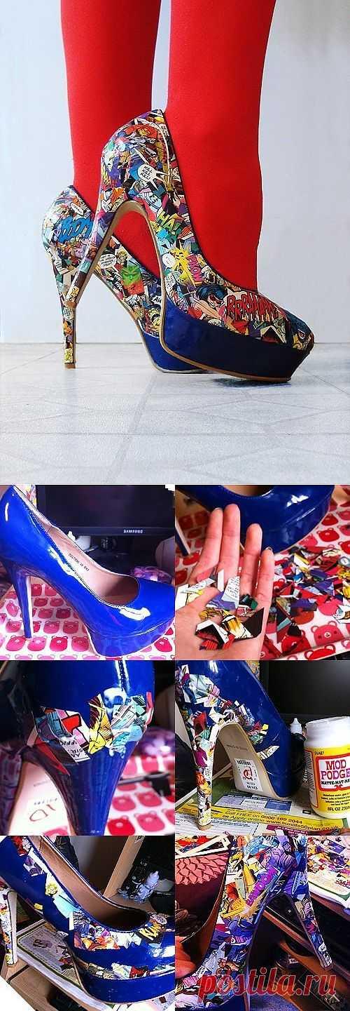 Комиксные туфли / Обувь / Модный сайт о стильной переделке одежды и интерьера