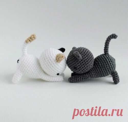 Очаровательные котята-амигуруми