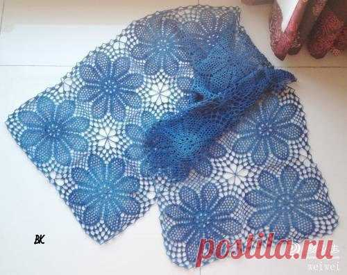OPENWORK SCARF (Knitting by a hook) | Inspiration of the Needlewoman Magazine