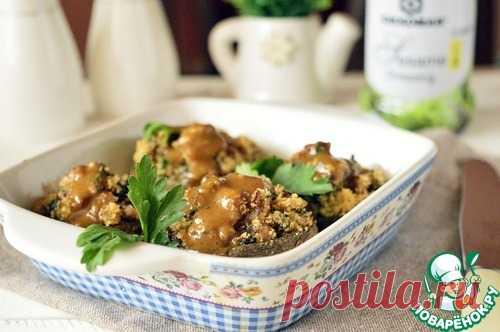 Фаршированные шампиньоны с хлебными крошками – кулинарный рецепт