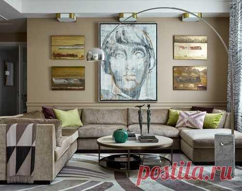 Как расставить диван и кресла в гостиной