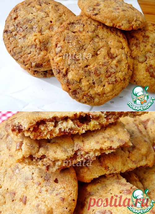 Орехово-шоколадное печенье – кулинарный рецепт