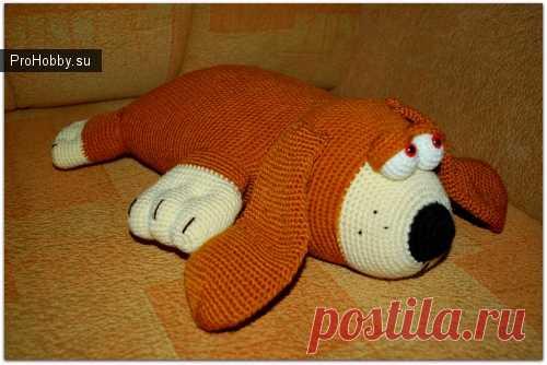 собака отдыхака вязание игрушек Prohobbysu вязание игрушек