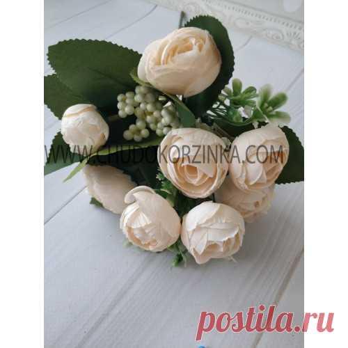 Искусственные цветы ранункулюса купить. Искусственные букеты, цветы купить недорого в Украине