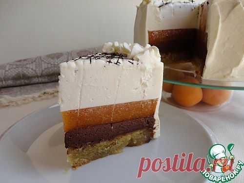 Торт с шоколадным муссом, фруктовым желе и кремом из маскарпоне. Автор: maraki84
