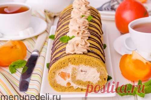 Творожный десерт с хурмой - всего 5 ингредиентов: рецепт пошаговый с фото.   Меню недели