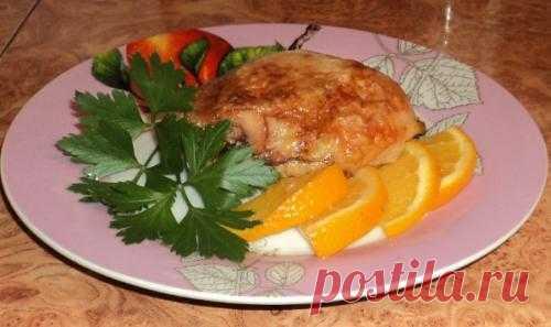 Курица, запеченная с апельсинами / Рецепты с фото