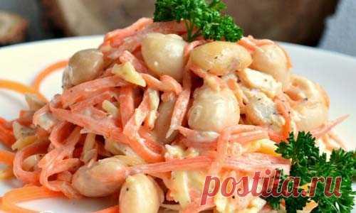Салат с курицей и фасолью   Готовим вкусно