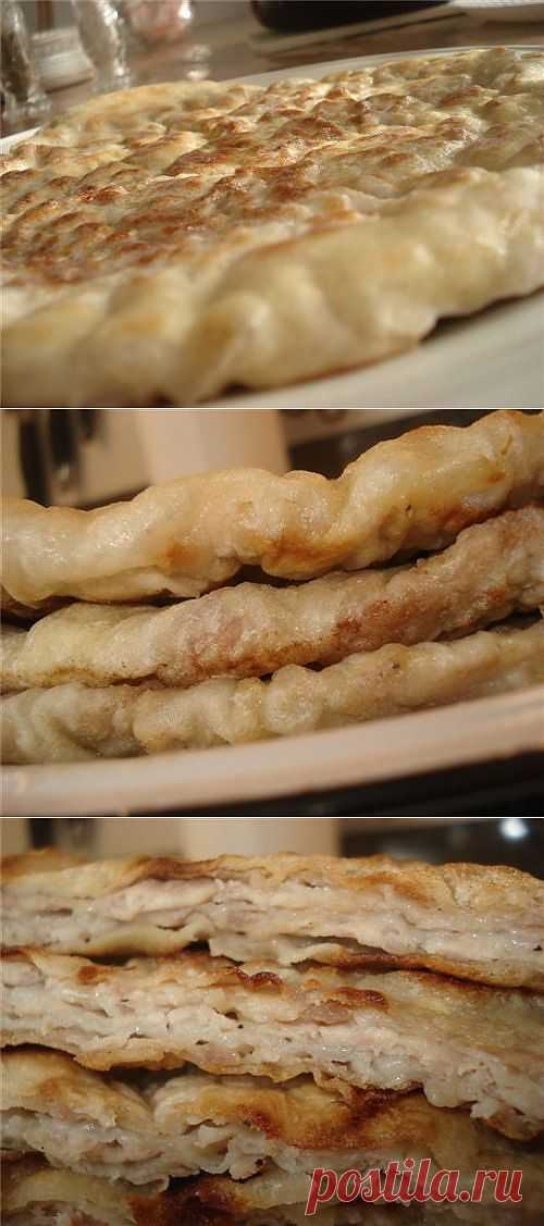 А-ля китайские лепёшки с мясом.