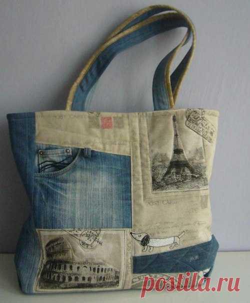 aebc7bc1a806 Джинсовые сумки. Идеи / Необычные поделки | СУМОЧКИ своими руками ...