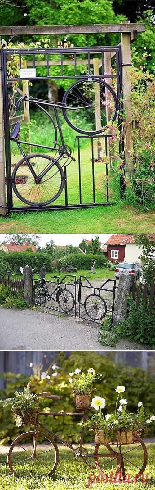 Велосипед в саду (подборка) / Авто Мото Вело / Модный сайт о стильной переделке одежды и интерьера