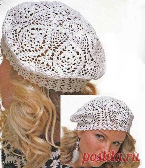 летние головные уборы вязание шапок женские шапки спицами и