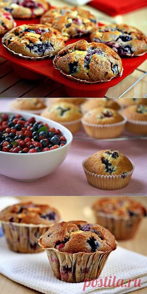 Маффины и кексы с фруктами и ягодами / Простые рецепты