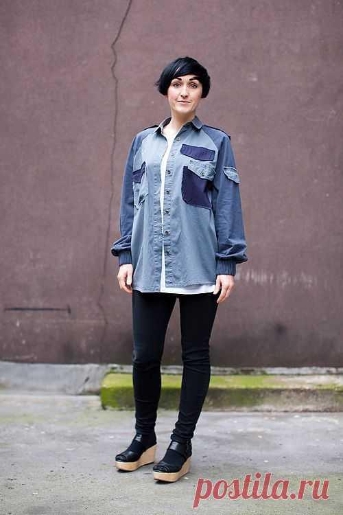 Рубашка из частей / Пэчворк / Модный сайт о стильной переделке одежды и интерьера
