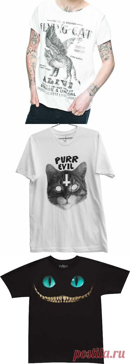 Коты потусторонни... / Рисунки и надписи / Модный сайт о стильной переделке одежды и интерьера