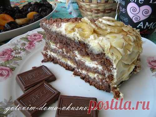 Шоколадно-банановый торт | Готовим Дома Вкусно