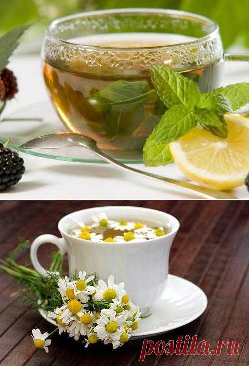 Мятный и ромашковый чай для похудения.