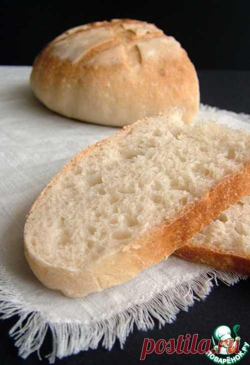 Простой пшеничный хлеб на закваске – кулинарный рецепт