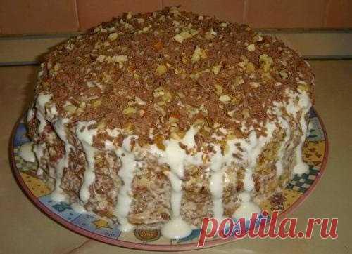 """Лучшие кулинарные рецепты: Очень простой тортик """"Выпускной"""""""
