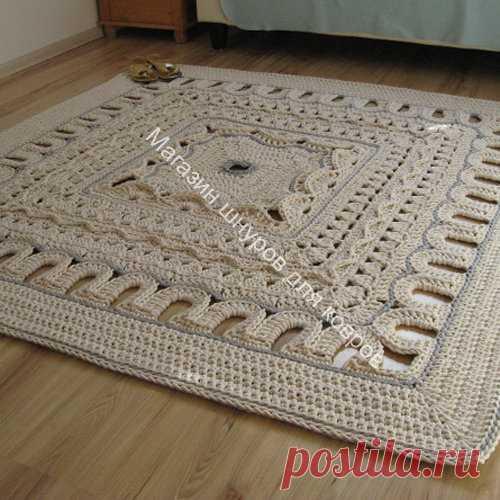 набор шнура для вязания большого квадратного ковра вязание