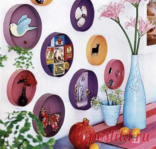 декорирование стены (можно использовать для детских поделок)