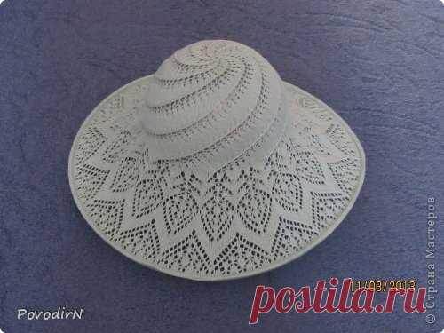 Ажурная летняя шляпка   Страна Мастеров