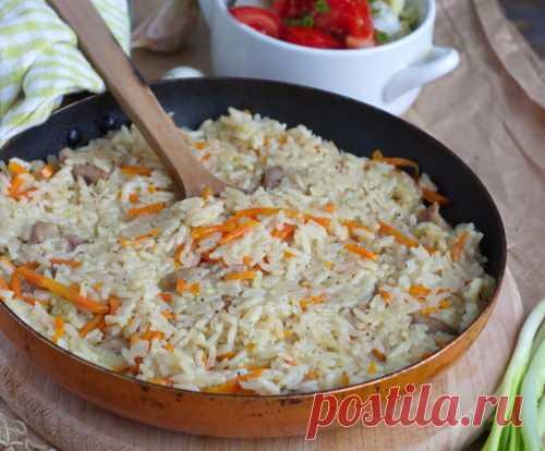Вкусный плов со свининой на сковороде — Кулинарные рецепты любящей жены