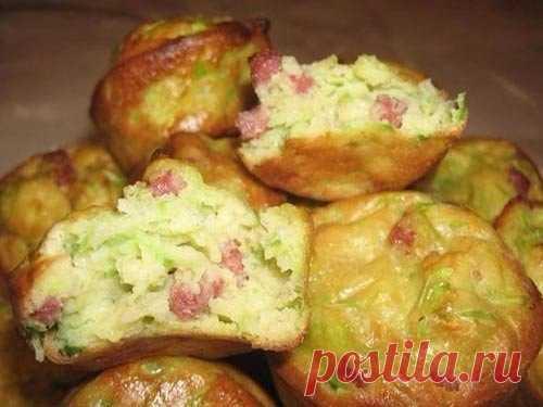 Обалденные Кабачковые кексы с луком и беконом — Сияние Жизни