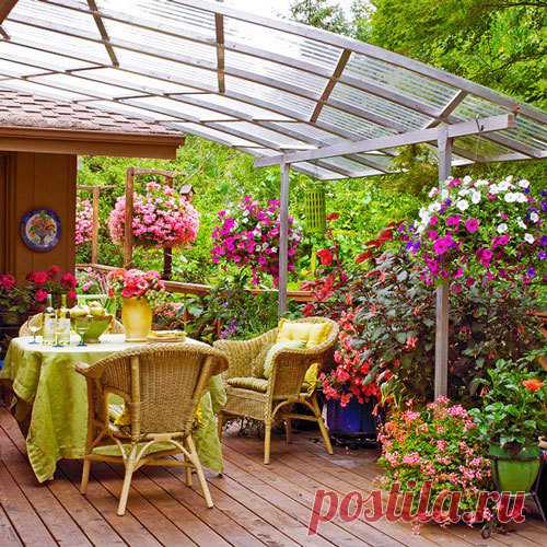 La terraza y la veranda para la casa – en busca de las ideas para la inspiración
