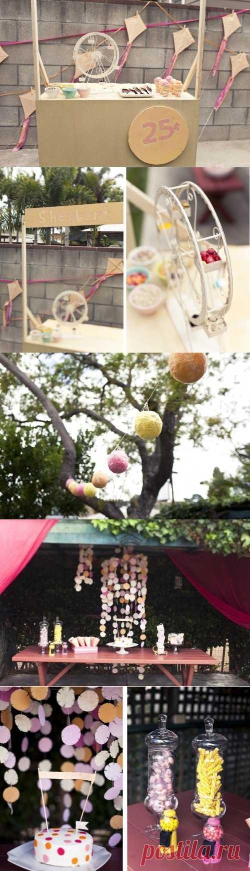 "Idea of the children's ""Мороженое&quot party;!"