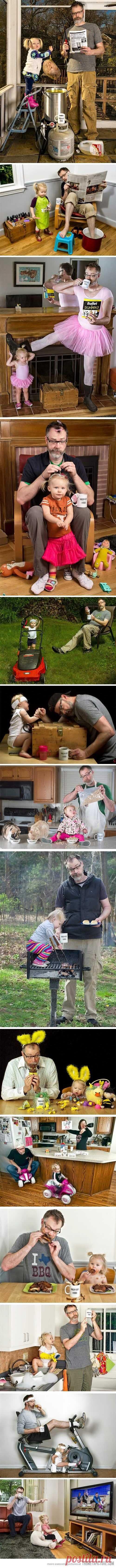 La fotoinstrucción para las chiquitinas – como pasar correctamente el tiempo con el papá))