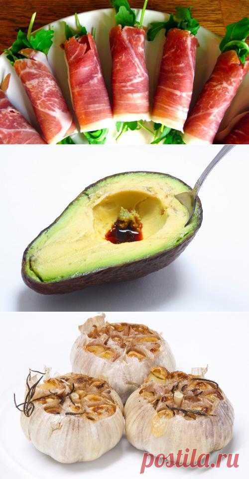 РЕЦЕПТЫ: 5 простых закусок из двух ингредиентов | Лайфхакер
