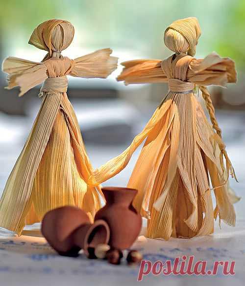 Куклы из кукурузных листьев. Мастер-класс.