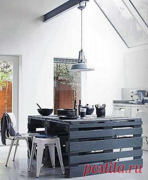 Мебель из паллет для кухни. Делаем красивую мебель из простых вещей