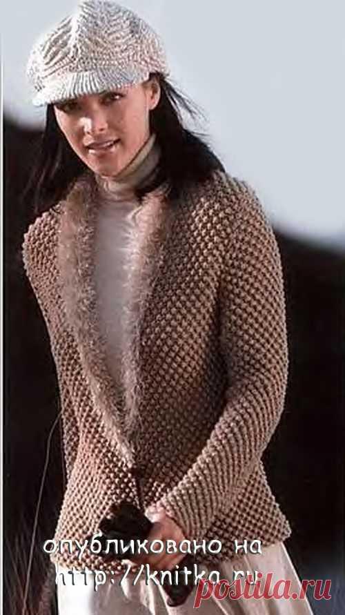 Теплый жакет, вязание спицами, Вязание для женщин