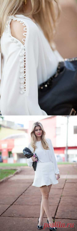Блузка с интересной застёжкой / Детали / Модный сайт о стильной переделке одежды и интерьера