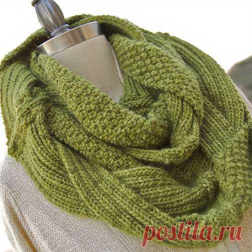 Потрясающий шарф-снуд